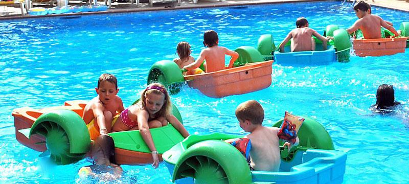 Barquitas para piscinas